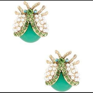 Betsey Johnson Flower Child Ladybug Stud Earrings